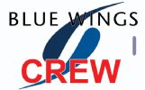 BLUE WINGS logo Crew Tag (RED)